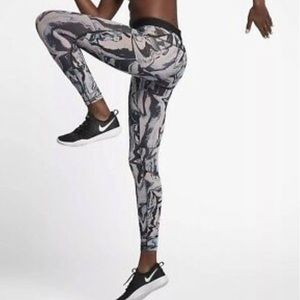 NWT Nike Pro hipercool tights leggings marble
